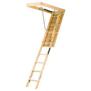 Louisville Ladder 22.5-by-54-Inch Wooden Attic Ladder