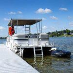 RecPro 4 Steps Pontoon Boat Ladder