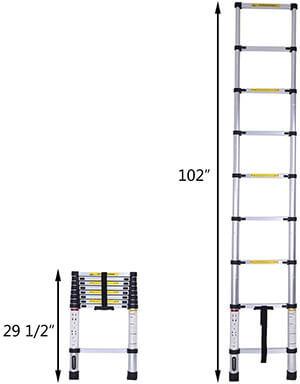 LUISLADDERS Telescoping Ladder